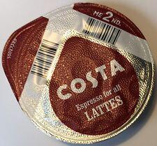 48 x Tassimo Costa Espresso for Latte Coffee T-discs (Sold Loose) NO MILK