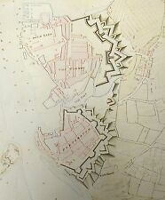 1773 Map of Portsmouth Showing Town & Dock Defences , Reprint 9x8 Inch