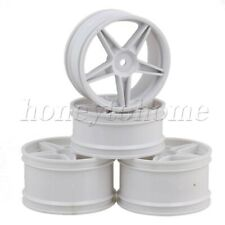 4pcs For HSP RC 1:10 Front Rear Tires Wheel Rims Off-Road Buggy Car Plastic