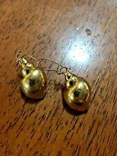 """24K Gold Dipped Snail Shell Earrings 3/4"""" wide x 1 1/4"""" long"""