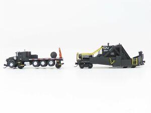 N Scale Unknown CN Canadian National Jordan Spaeder Snowplow w/Truck Custom