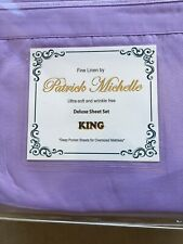 New Patrick Michelle king bed sheet set