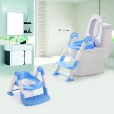 Blau 3 in 1 Toilettentrainer Toilettensitz Kinder WC Sitz Lerntöpfchen+Stufen DE