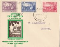 AFD417) Australia 1937 4 covers Commemorating the Sesqui-centenary of NSW