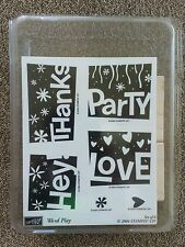 New Stampin Up Word Play Retired Stamp Set Invites Party Hey Love Thanks Heart