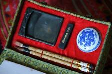 Old Chinese Calligraphy Set…  with Brushes, Inks & Mixing Palate...