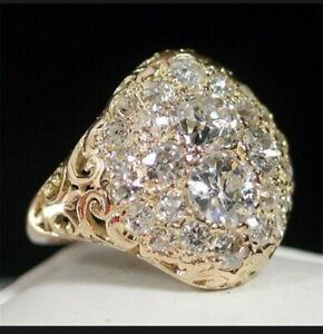 Ladies gold  Ring 925/zircon Size P