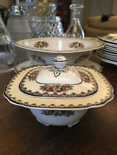"Wedgwood Imperial Ivory ""Manchu"" Lidded Sauce Tureen Pattern No.1315 ...."