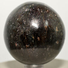 "2"" Deep Red Garnet Sphere Natural Almandine Crystal Ball Mineral Stone - India"