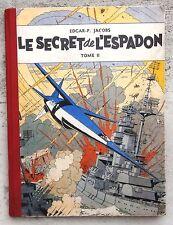 Blake et Mortimer Le Secret de l'Espadon 2 EO 1953 ( recartonnage ) BE+ Jacobs
