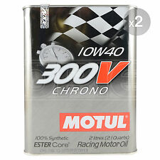 Motul 300V Chrono 10W-40 Racing engine oil - 2 x 2 Litres 4L