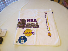Mens 2010 NBA Champions Los Angeles Lakers Adidas basketball Locker Rm Towel NEW