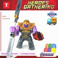 Thanos lego Marvel Super Heroes Lego Mini Figures Avengers Superhero Minifigures