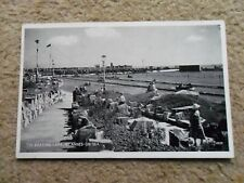 REAL PHOTO POSTCARD.THE BOATING LAKE, ST ANNES-ON -SEA.SALMON SERIES.