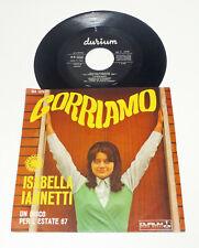 """Isabella Iannetti """" Corriamo """" Italy 1967 DURIUM 7"""" PS 45 TOP Condition EX/EX"""