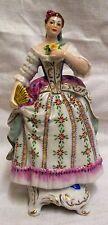 Vintage rudolf Kammerphilharmonie volkstedt lady with fan figurine 738