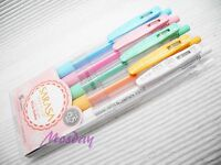 (5 Colors Set) Zebra SARASA Milk Colors Retractable Roller Ball Point Pen 0.5mm