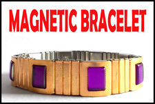 Men's Stylish Magnetic Stainless Steel Bracelet for Healthy Life and BP Control.