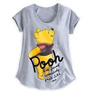 Disney Store Authentic Winnie the Pooh Womens Raglan T Shirt Tee Size XXS