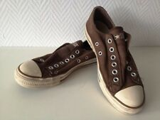 Converse all star Chuck slim low coton marron taille 5/37,5