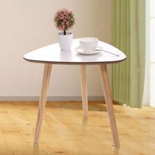 Modern Triangle Coffee End/Tea Table Living Room Furniture Home Decor White