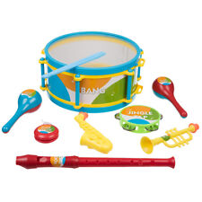 8 Piece Musical Instruments Children's Toy Set Drum Trumpet Maracas Tambourine