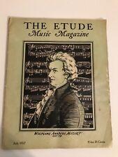 Vintage The Etude Music Magazine Mayl July  1937 Carl Maria Von Weber