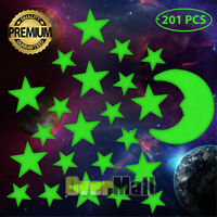 Glow in the Dark Stars w/ Bonus 8cm Moon Wall Decal, Wall Stickers, Room decor