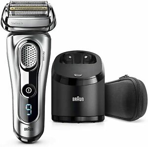 Braun Series 9 9290cc Electric Shaver Silver Travel case Charging/cleaning base