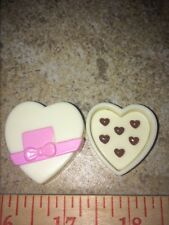 Barbie Ivory Heart Shaped Pink Ribbon Box of Chocolates Present Date Accessory