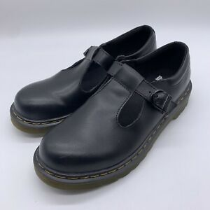 Dr. Martens Womens Polley Y Black Leather Shoes UK 5 #H1/21