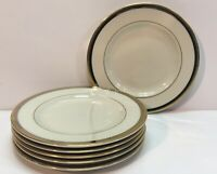 Pickard China Hand Decorated Gold And Platnum Rim Bread Plates Set Of 6