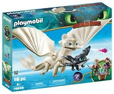 PLAYMOBIL How to Train Your Dragon III Light Fury w Baby Dragon + Children 70038