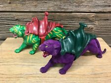 Vintage 1980s MOTU Lot BATTLE CAT and PANTHOR Masters of the Universe He-Man