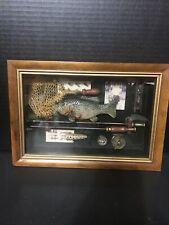 Fishing Shadow Box Vintage #b350