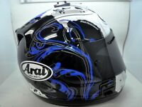 Arai Helmet Corsair V Leon Haslam Size Small WSBK Rider Replica Red Blue Black