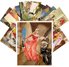 Postcards Pack [24 cards] Oriental and Medieval Vintage Books by W Pogany CC1133