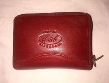 Derek Alexander Accordion Twin Zip Credit Card Holder Red Leather