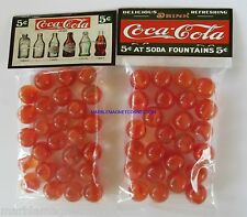2 BAGS OF COCA COLA 1899 - 1957 SODA BOTTLES ADVERTISING PROMO MARBLES