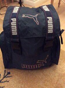 Vintage Blue Puma Back Pack Shoulder Sports Bag