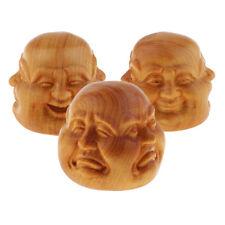 3pcs tête de sculpture de bouddha ornement intérieur bureau maison décor