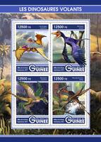 Guinea 2017 MNH Flying Dinosaurs Rahonavis Microraptor Lacusovagus 4v M/S Stamps