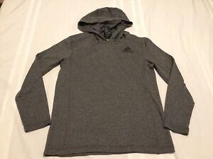 Adidas Gray Kids Long Sleeve Shirt with HoodieM 10/12