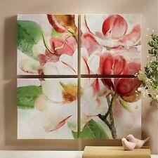Set of 4 Magnolia Wall Art & Canvas