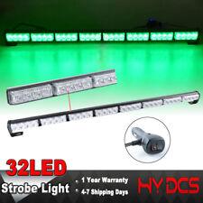 """35"""" 32 Green LED Strobe Light Bar Emergency Warning Traffic Advisor Flash Lights"""