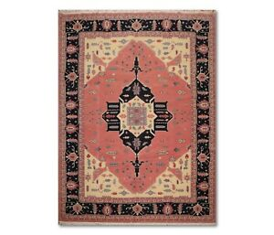 """9'1""""' x 12'1"""" Hand Knotted Romanian Herizz 100% Wool Oriental Area Rug Rose"""