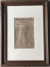 The London Gazette April 16 - April 19 1694 in a Two Sided Frame