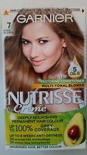 GARNIER NUTRISSE CREME 7 DARK BLONDE HAIR DYE NEW 5 OILS