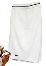 NOUVEAU Nike Hommes Premium DriFIT tennis short blanc (bord Noir) XL TG