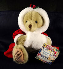 Alice Cherished Teddies 25215 Dakin Plush Bear 1995 LE 2151 of 10000 Christmas